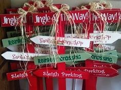 jingle all the way yard stake on 1 side
