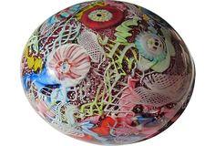 Tutti Frutti Murano Glass Paperweight on OneKingsLane.com glass paperweight, murano glass, glass eggsglass, eggsglass paper