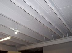 how to finish a basement ceiling cheap