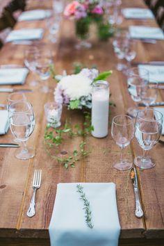 garden wedding reception table, photo by EPLove http://ruffledblog.com/ruffled_galleries/hip-bonny-doon-wedding #tablescape #gardenwedding #receptions