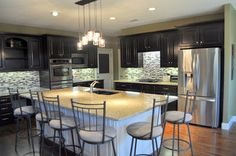 java gel stained cabinets