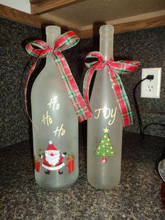 good craft for empty wine bottles