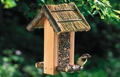Bird cottage feeder