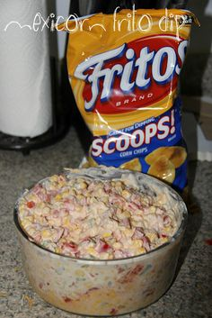 mexicorn party dip---or the texas caviar...whichever you like best