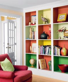 Color blocking makes a boring old built-in way more awesome.