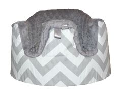 Baby Seat COVER in Chevron Gray with Gray Minky Seat