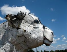 The Pike County Cattlemen and Cattlewomen's big steel bull of Troy, Alabama