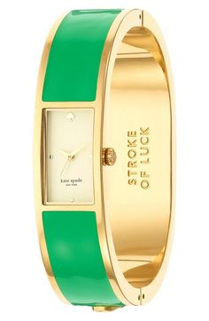 Stroke of luck! Love this Kate Spade bangle watch