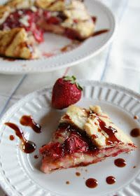 Balsamic strawberries and brie