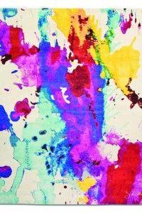 Marc Phillips Tibetan contemporary watercolor rug