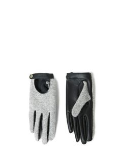 Faux Leather and Knit Combination Gloves by Zara