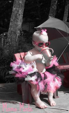 Punk Rocker Girl Knotted Tutu and matching hair by mamamadebows, $30.00