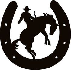 tinkerbell silhouette | Horseshoe w/ Cowboy 2 Decal - Custom Wall Graphics