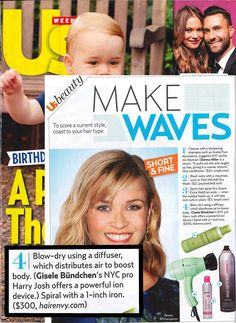Harry Josh Pro Tool featured in the August 4, 2014 issue of Us Weekly!