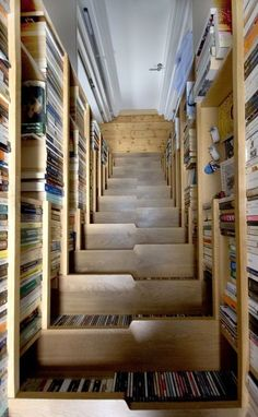 Books and stairs! Really cool