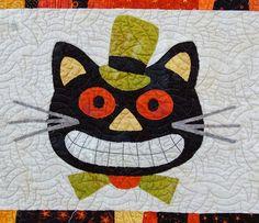Spooky cat quilt detail at Abbey Lane Quilts