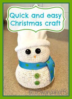 Easy Snowman Christmas Craft