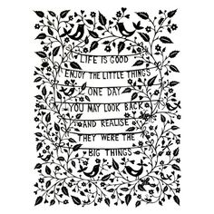 Life is Good  print by FolkArtPapercuts on Etsy, $32.00