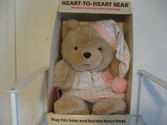 Heart to Heart Bear. Another Favorite. I Still have this, It's in my Hope Chest. I've had it about 25 years now. Wow. I should feel old, But I don't :)