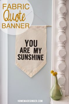Fabric Quote Banner