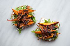 Sweet potato and bacon combine for an uncommonly tasty tartine. #Etsy