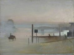 The Quiet River: The Thames at Chiswick - 1943 - 44 - Victor Pasmore