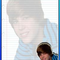 Blue Justin Bieber Stationary