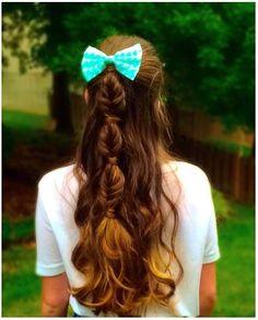 bubble fishtail braid