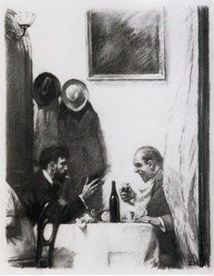 "Edward Hopper (1882-1967)  ""In a Restaurant"""