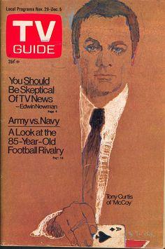 "November 29, 1975. Tony Curtis of NBC's ""McCoy"" (illus. by Bernard Fuchs)."