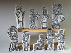 """Zach Medler - porcelain figurines/action figures... part of """"locality"""" installation. lafayette, IN, a solo exhibition by zach medler."""