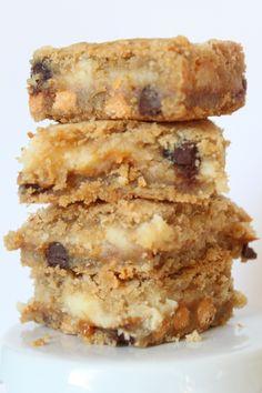 Chocolate Chip Cookie Cheesecake Bars - oh my!