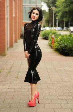 Lovely latex dress.