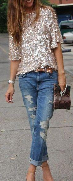 denim jeans, sequin