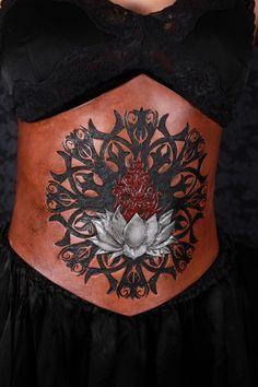 hand tooled leather lotus