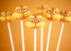 lorax cake, weight loss, cakes, bake, food, cake pops, cakepop, dr seuss, parti
