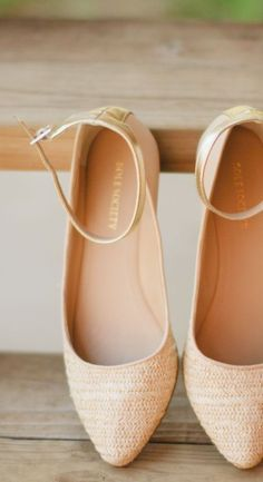 Woven Ankle Strap Flats ♥