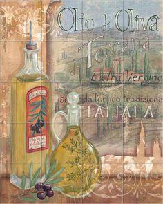 Tuscan Olio 2 Daphne B Kitchen Backsplash Tile Mural