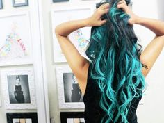 Teal would be a great color to dye my ends for a dip dyed look