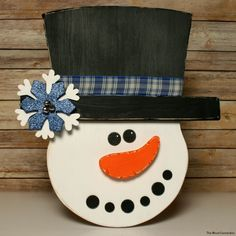 The Wood Connection - Snowman Door Hang , $13.95