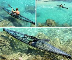another version of the see thru canoe. The Kayak.