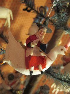 Antique Christmas cotton ornament