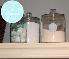 FREE homemade cleaner labels from Clean Mama. Because cleaning is more fun when it's cute, right?