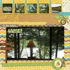 Minnesota Life part 3 This digital scrapbooking page was created using Outdoor Adventures by Sheila at Pixel Scrapper