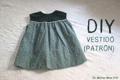 Vestido de niña patrones incluidos (talla 6 meses - 6 años)