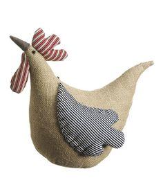 Burlap Rooster #zulily #zulilyfinds