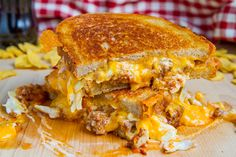 Sloppy Joe Grilled Cheese with Coleslaw