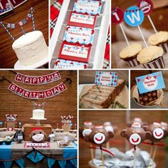 1st birthday party ideas for boys | This charming SOCK MONKEY THEMED FIRST BIRTHDAY PARTY was submitted by ...