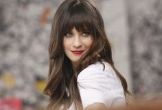 """Zooey Deschanel - """"I brake for birds. I rock a lot of polka dots. I have touched glitter in the last 24 hours"""""""