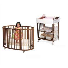 Stokke Sleepi Crib Set in Walnut with Mattress